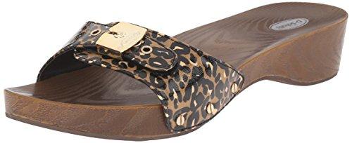 Dr. Scholl's Women's Classic Platform Slide Sandal, Black/Brown Leopard, 9 M US (Wood Platform Shoes compare prices)