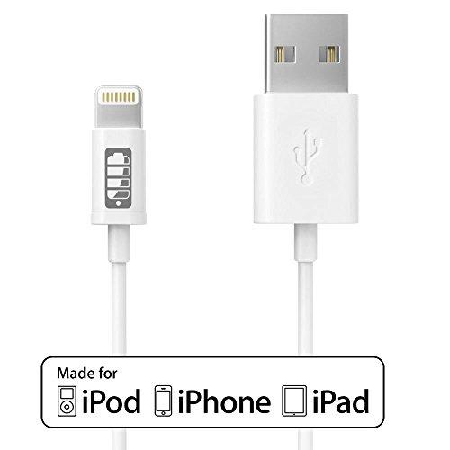 Anker PowerLine+ ライトニングUSBケーブル Apple MFi認証取得【防弾仕様の高耐久ケブラー素材 / 2重編込の高耐久ナイロン素材 / フェルト製ポーチ付属】iPhone、iPad各種他対応 (0.9m ホワイト) A8121021