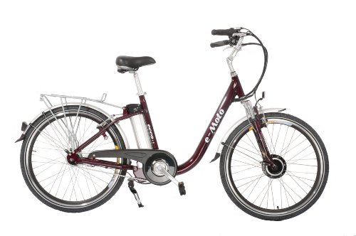 e-Moto Ecco 1.5 Electric Cruiser Bicycle (Wine Red, 26-18-Inch)