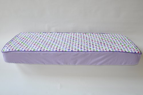 Botanical Purple Quilted Crib Sheet