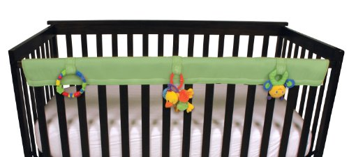 Leachco Easy Teether Soft & Padded Crib Rail Cover, Sage