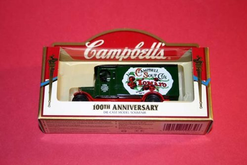 Campbell's Soup 100th Anniversary Die-Cast Car Model Souvenir - Green Tomato Soup Delivery Truck - 1