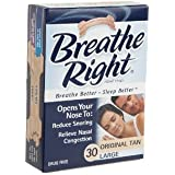 (120 Strips) Breathe Right Original Tan Large Nasal Strips