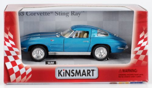 1963 Chevy Corvette Stingray 1:36 Scale (Blue)