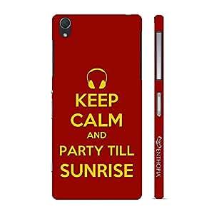 Enthopia Designer Hardshell Case PARTY TILL SUNRISE Back Cover for Sony Xperia Z2