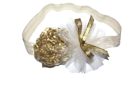 Ivory Gold Color Soft Stretch Headband (0-3Months) front-1011833