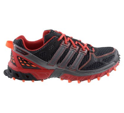 Adidas Kanadia 4 Trail Runner M Laufschuhe black-light scarlet-neo iron metallic - 46 2/3
