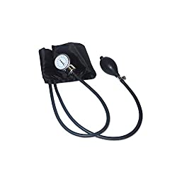 IndoSurgicals Sphygmomanometer, Aneroid Type Bp Monitor (Black)