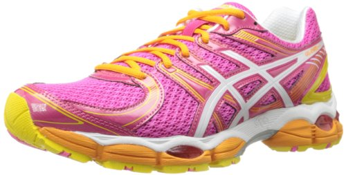 ASICS Women's Gel-Evate Running Shoe,Hot Pink/White/Sunshine,12 M US