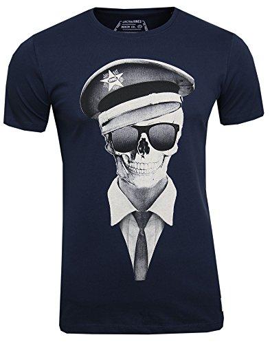 JACK & JONES -  T-shirt - Maniche corte  - Uomo Blau ( navy blazer ) Large