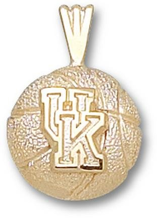 Kentucky Wildcats UK Basketball Pendant - 14KT Gold Jewelry by Logo Art