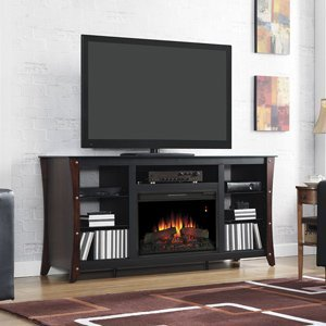 Classicflame Marlin Electric Fireplace Media Cabinet In Midnight Cherry - 26Mm9689-Nc72