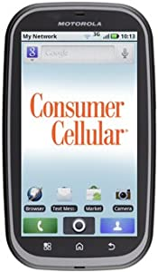 Motorola MB520 Bravo Smartphone Prepaid Phone (Consumer Cellular, Locked) Android OS, 3MP Camera, FM Radio