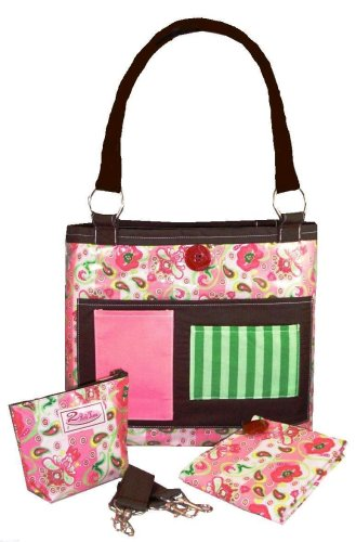 2 Red Hens Whole Roost Strawberry Shortcake Diaper Bag front-116952