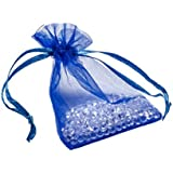 100 Royal Blue Organza Wedding Favour Bags Jewellery Pouches by KurtzyTM