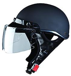 Studds Troy Sporting Half Helmet (Matt Black, L)