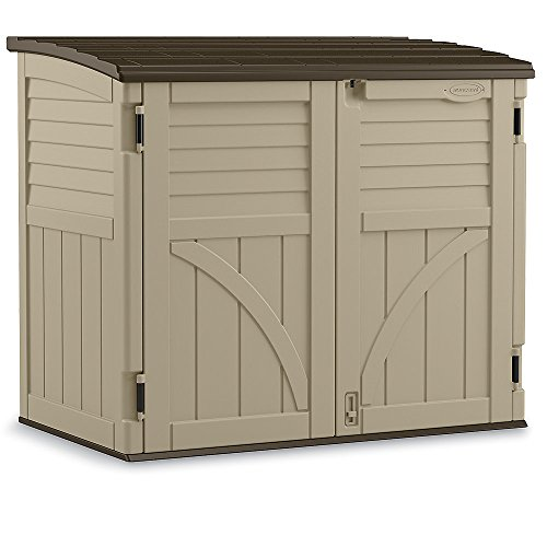 suncast horizontal storage shed 53 wx32 1 2 dx45 1 2 h