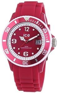 Ice-Watch Unisex-Armbanduhr Limited DE - Raspberry - Unisex Analog Quarz Silikon SI.RAS.U.S.13