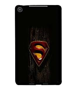 PrintDhaba Superman Logo D-2023 Back Case Cover for ASUS GOOGLE NEXUS 7 2013 (Multi-Coloured)