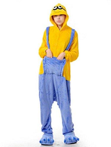 hot unisex costume carnevale Halloween Pigiama animali kigurumi cosplay Zoo onesies tuta-S/149-Minions