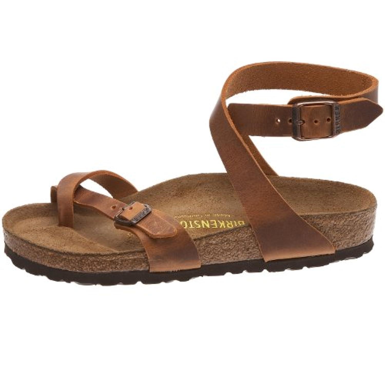 BIRKENSTOCK Yara Womens Antique Brown Leather Thongs 38 EU ...