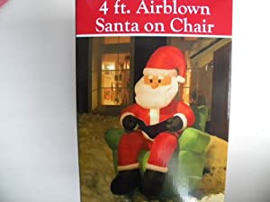 Santa Sitting in Chair Christmas Airblown Inflatable 4ft