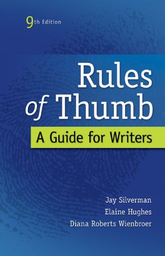 Rules of Thumb [Spiral-bound]