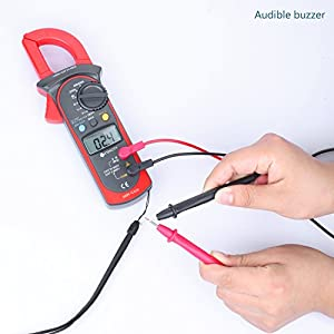 Etekcity MSR-C600 Digital Clamp Meter & Multimeter with AC / DC Voltage Test, Red