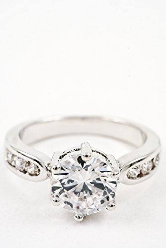Glitz Finery Diamond Ring (Silver)