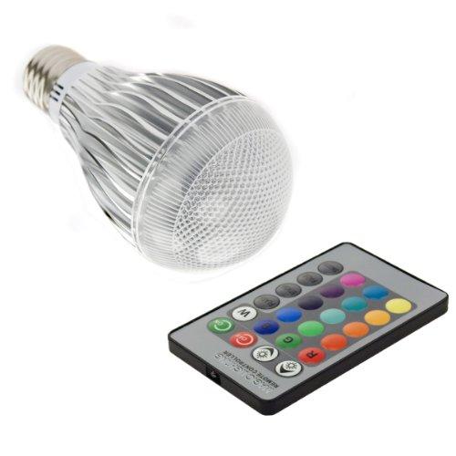 XCSOURCE RGB LED Lampe Licht Dimmbar Leuchtmittel, Lampen 16 Farben multicolor, farbwechsel 3W E27 Strahler, dimmbar + 24 Tasten Fernbedienung für Zuhause Party Dekoration LD231