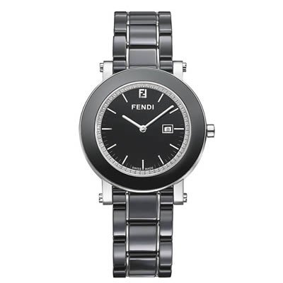 Fendi Women's F641110D Ceramic Analog Display Quartz Black Watch