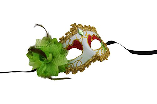 Romantic Disguise Mask with Attractive Embellishments (Green)