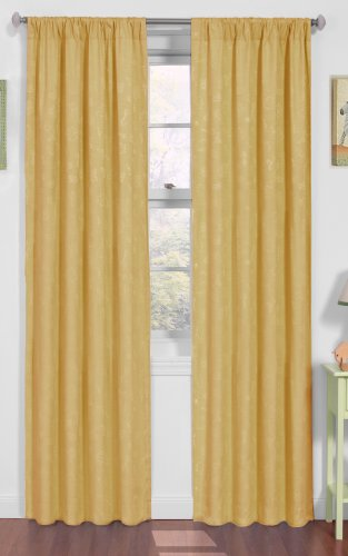 Eclipse Nursery Day At The Zoo Blackout Window Panel, 42-Inch by 84-Inch, Pale Yellow