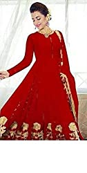 fashion women exclusive & designer georgette white latest bollywood & partywear dress meterials for women