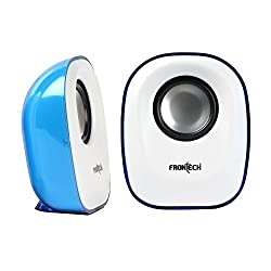 FRONtECH JIL-3347 USB Multimedia Speaker (White and Blue)