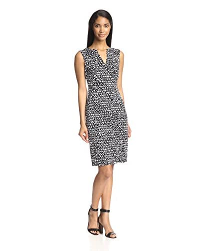 Susana Monaco Women's V-Neck Fitted Sheath Dress