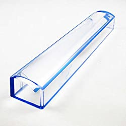 Blue Raised Bar Magnifier Reading Magnifing Glass 15cm Long (5x Magnification)