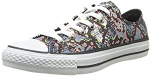Converse CT Multi Panel Low Top Women's Sneakers 6.5 B(M) US WHITE/MULTI
