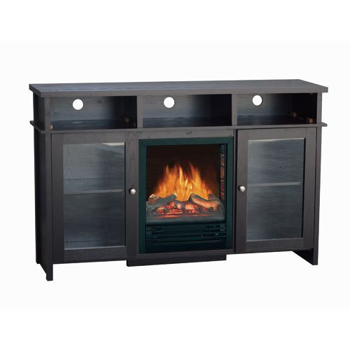 Cheap Flametec 750W/1500W Electric Fireplaces Heater 210-52BDC,TV stand,Dark Chocolate (210-52BDC)