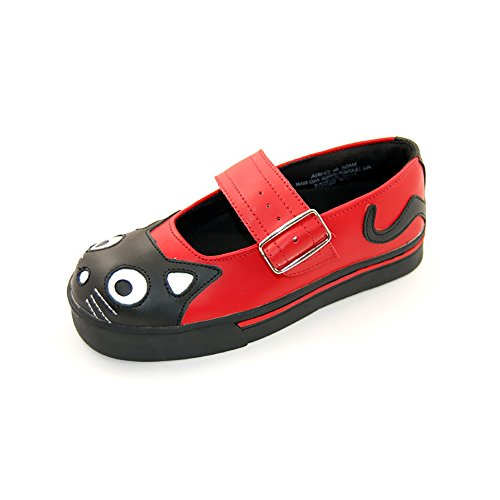 Tuk. Mary Jane-sneaker CAT FACE red, Rosso (rosso), 36