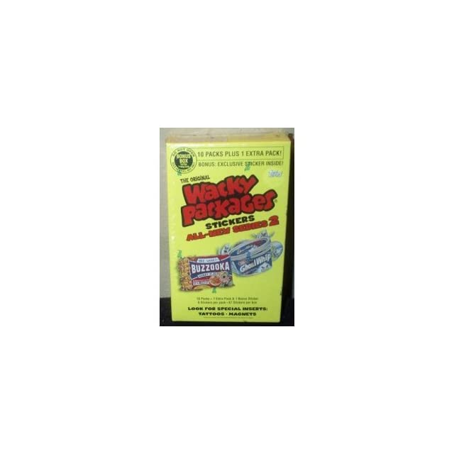 Topps Wacky Packages Series 2 Trading Card Stickers Bonus Box