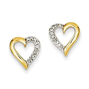 14k Yellow Gold Aa Diamond Post Earrings