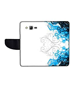 KolorEdge Printed Flip Cover For Samsung Galaxy Grand Prime Multicolor - (50KeMLogo11979SamS530)
