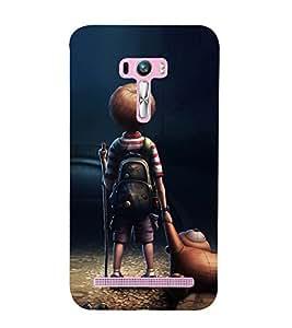 99Sublimation Poor Boy with Bag and Toy 3D Hard Polycarbonate Designer Back Case Cover for Asus Zenfone Selfie ZD551KL