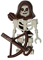 Skeleton (White) with Hood, Arrows and Crossbow - LEGO Castle Minifigure from LEGO