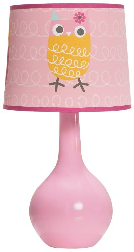 Zutano Owl Lamp Base and Shade, Pink (Discontinued by Manufacturer) - 1