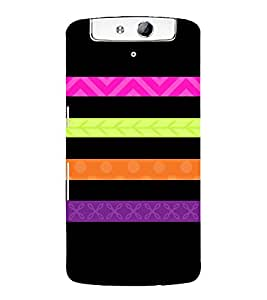 Flag Host Lines Cute Fashion 3D Hard Polycarbonate Designer Back Case Cover for Oppo N1