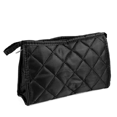 Best Cheap Deal for uxcell Black Rhombus Printed Zip Up Rectangular Cosmetic Purse Bag Makeup Organizer by uxcell - Free 2 Day Shipping Available