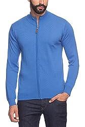 Raymond Men's Woolen Sweater (8907252515455_RMWX00370-B4_40_Blue)