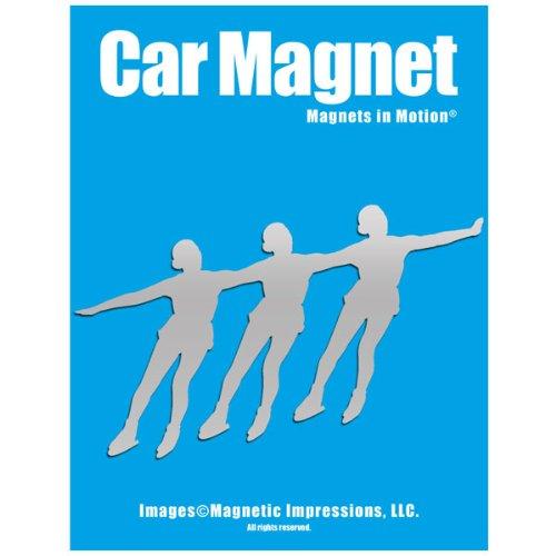 Synchronized Skaters Car Magnet Chrome